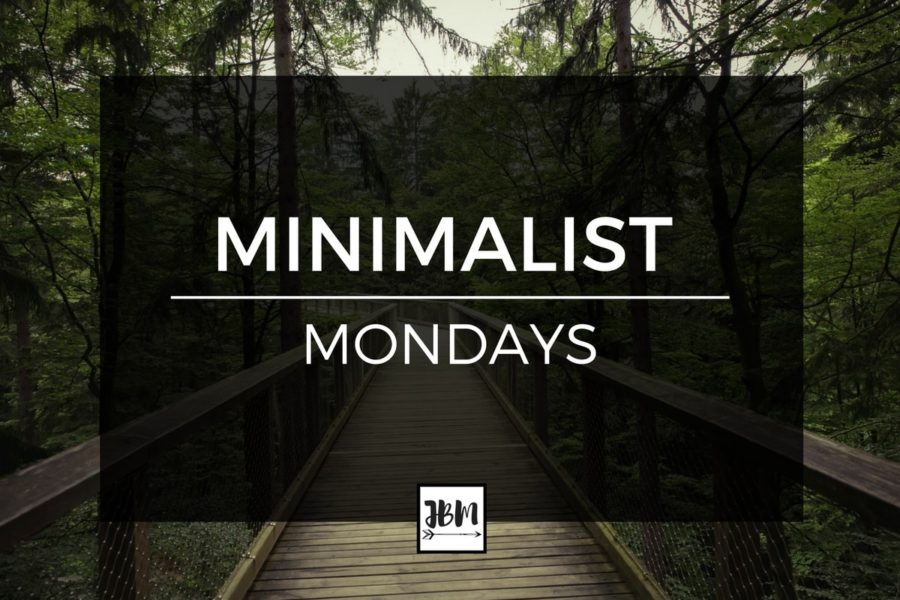Learn to go minimal with Minimalist Mondays