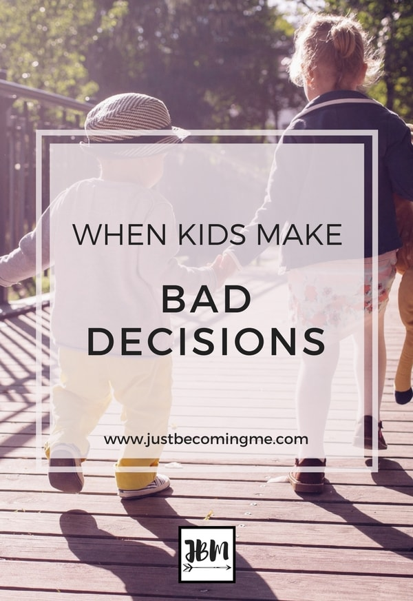When kids make bad decisions. Is it a reflection on you as their mom?