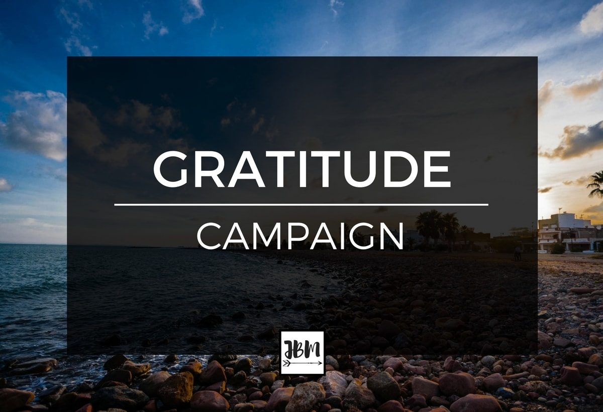 Sometimes in life we forget to be grateful for all the things in our life. That's why I created the Gratitude Campaign