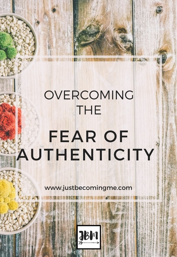 It can be hard for me to put myself out there and the fear of authenticity can hinder me from sharing more with my readers.