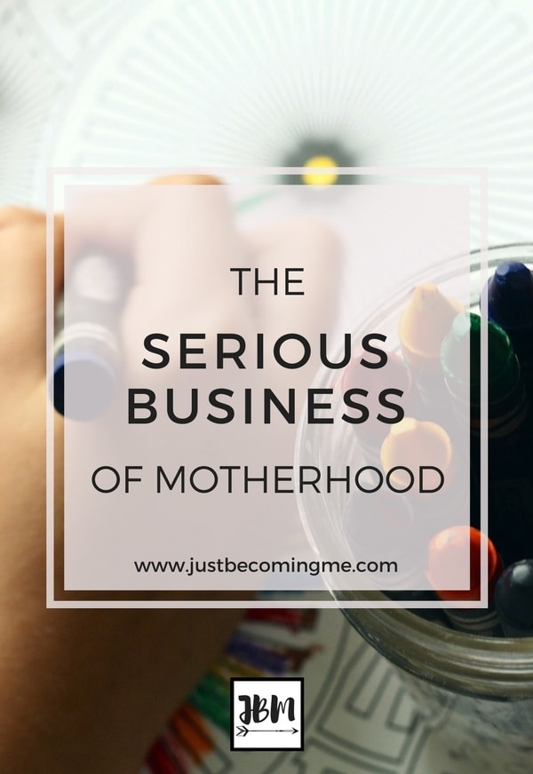 Being a mom is serious business, but when you take it too seriously is that a good or a bad thing?